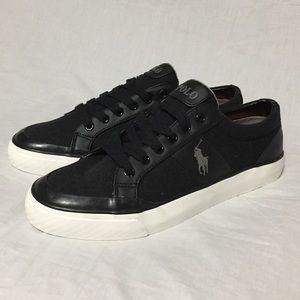 Polo Ralph Lauren Men's Ian Black Canvas Sneakers